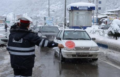 14 استان درگیر برف و باران/ محورهای هزار و چالوس مسدود